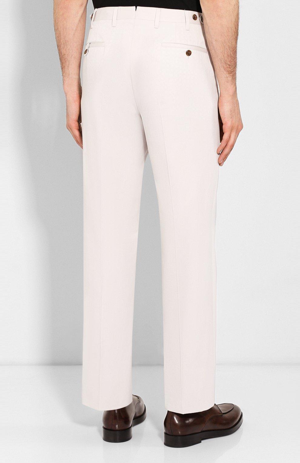 Мужские брюки из смеси хлопка и кашемира CORNELIANI белого цвета, арт. 854203-0114105/02 | Фото 4