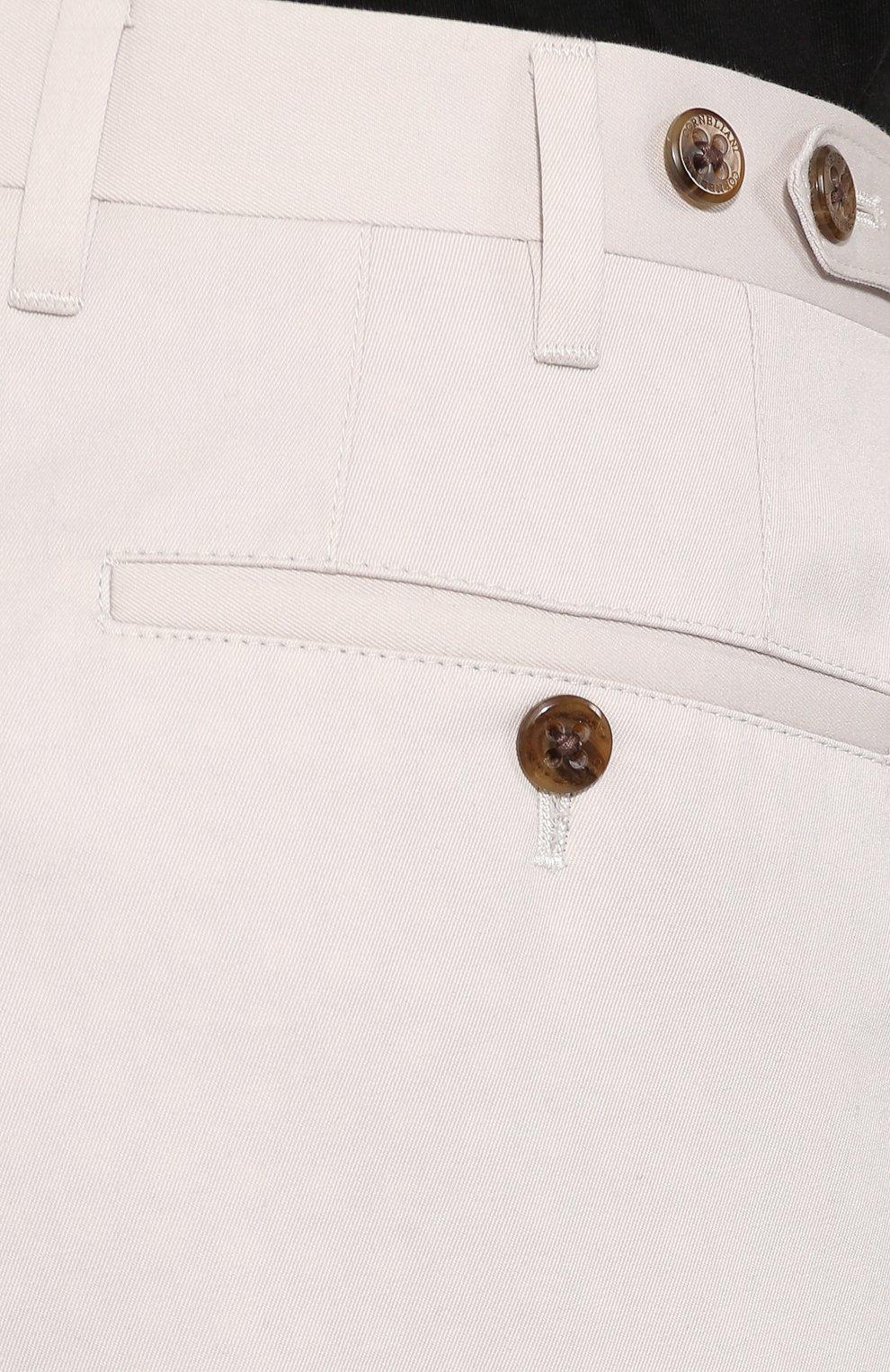 Мужские брюки из смеси хлопка и кашемира CORNELIANI белого цвета, арт. 854203-0114105/02 | Фото 5
