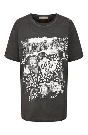 Женская хлопковая футболка MICHAEL MICHAEL KORS черного цвета, арт. MH95MET97J | Фото 1