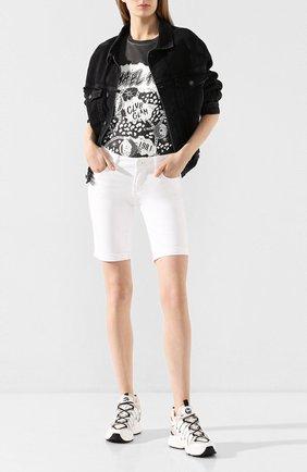 Женская хлопковая футболка MICHAEL MICHAEL KORS черного цвета, арт. MH95MET97J | Фото 2