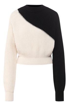 Женская хлопковый пуловер  TWINS FLORENCE черно-белого цвета, арт. TWFPE20MAG0010B | Фото 1