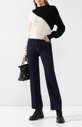 Женская хлопковый пуловер  TWINS FLORENCE черно-белого цвета, арт. TWFPE20MAG0010B | Фото 2