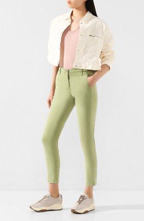 Женские брюки JACOB COHEN зеленого цвета, арт. MARINA 00964-S/53 | Фото 2
