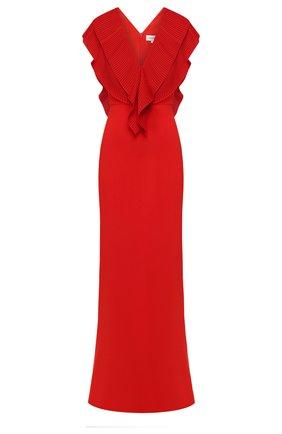 Женское платье-макси VICTORIA BECKHAM красного цвета, арт. 1220WDR001351A | Фото 1