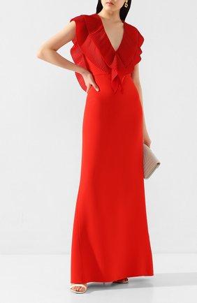 Женское платье-макси VICTORIA BECKHAM красного цвета, арт. 1220WDR001351A | Фото 2