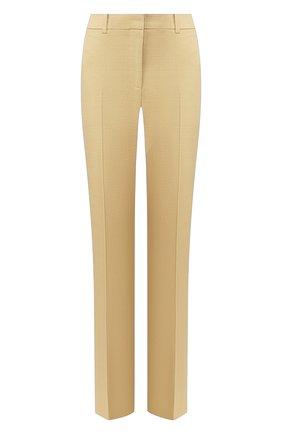 Женские брюки из смеси льна и хлопка VICTORIA BECKHAM бежевого цвета, арт. 1220WTR001203E | Фото 1