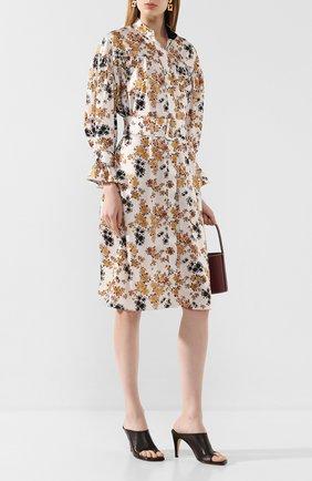 Женское платье с поясом VICTORIA, VICTORIA BECKHAM разноцветного цвета, арт. 2220WDR001184A | Фото 2