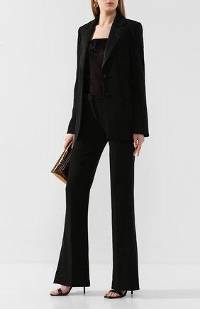 Женские расклешенные брюки VICTORIA, VICTORIA BECKHAM черного цвета, арт. 2120WTR000431B | Фото 2
