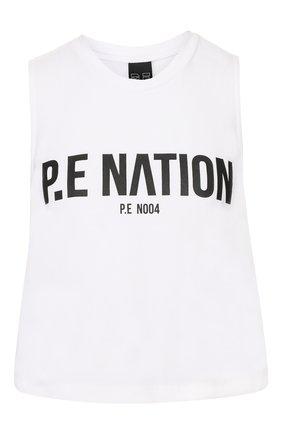 Женская хлопковый топ P.E. NATION белого цвета, арт. 19PE4W028 | Фото 1