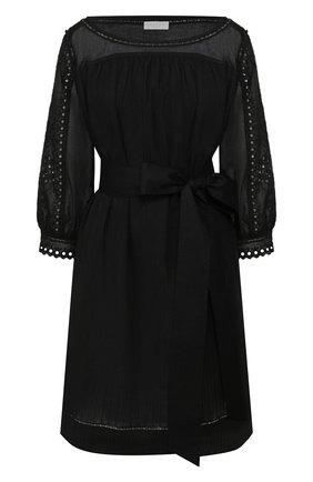 Женское хлопковое платье ESCADA SPORT черного цвета, арт. 5032763 | Фото 1