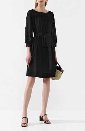 Женское хлопковое платье ESCADA SPORT черного цвета, арт. 5032763 | Фото 2