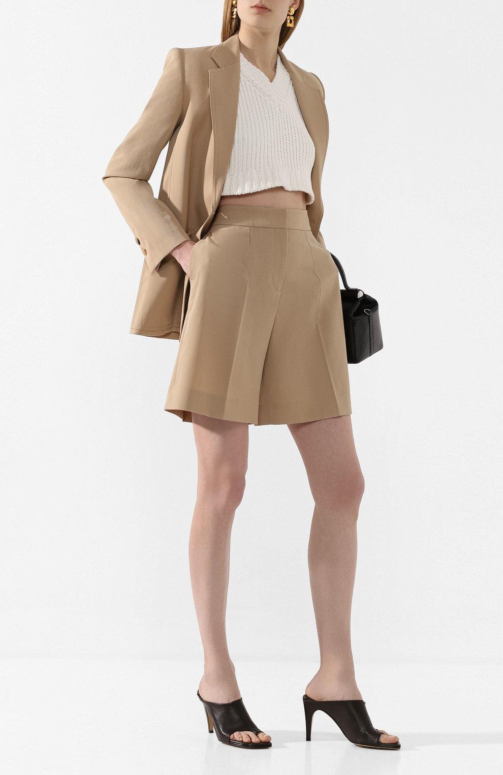 Женские шорты VICTORIA, VICTORIA BECKHAM бежевого цвета, арт. 2220WSR000958A | Фото 2