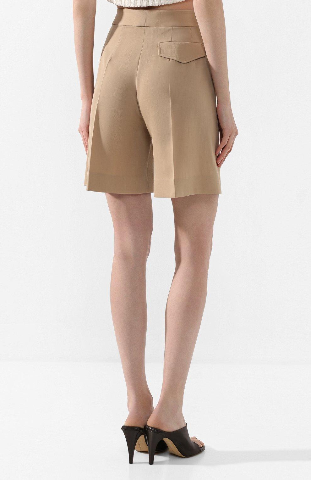 Женские шорты VICTORIA, VICTORIA BECKHAM бежевого цвета, арт. 2220WSR000958A | Фото 4