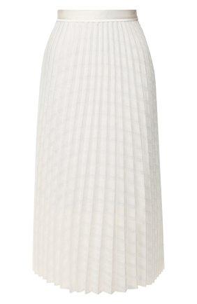Женская плиссированная юбка VICTORIA, VICTORIA BECKHAM белого цвета, арт. 2220WSK001017A | Фото 1