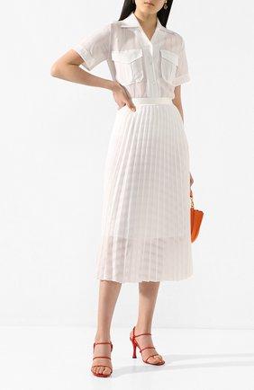 Женская плиссированная юбка VICTORIA, VICTORIA BECKHAM белого цвета, арт. 2220WSK001017A | Фото 2