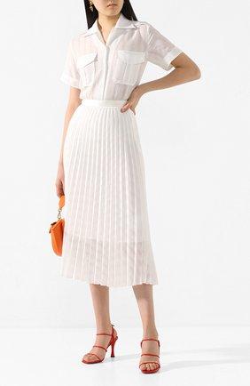 Женская рубашка VICTORIA, VICTORIA BECKHAM белого цвета, арт. 2220WSH000949A | Фото 2