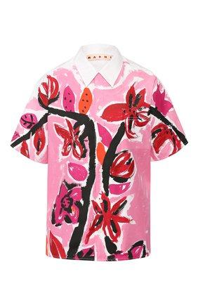 Женская хлопковая рубашка MARNI розового цвета, арт. CAMAW49P13/SCQ72 | Фото 1