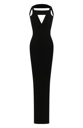Женское платье из вискозы RICK OWENS черного цвета, арт. R020S1675/KST   Фото 1