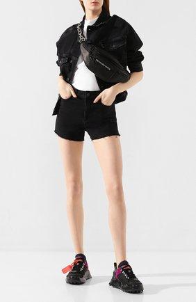 Женские джинсовые шорты PAIGE черного цвета, арт. 2800298-7649 | Фото 2