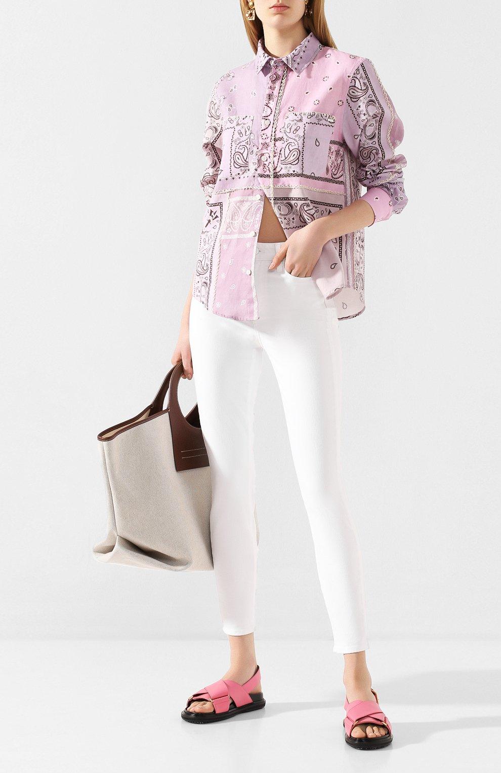 Женские джинсы PAIGE белого цвета, арт. 2824208-4520   Фото 2