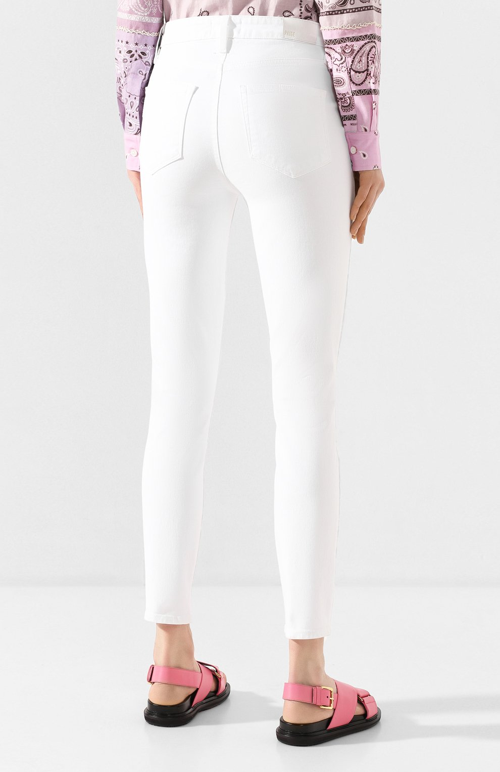 Женские джинсы PAIGE белого цвета, арт. 2824208-4520   Фото 4