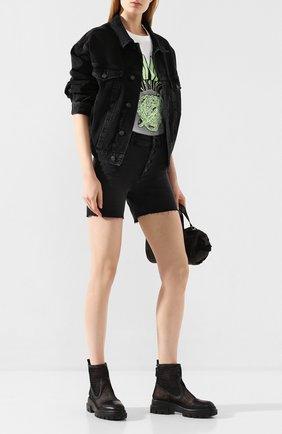 Женские джинсовые шорты PAIGE черного цвета, арт. 5954298-7994 | Фото 2