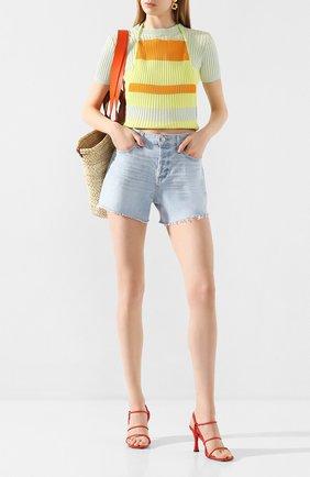 Женские джинсовые шорты PAIGE голубого цвета, арт. 6041635-8561 | Фото 2