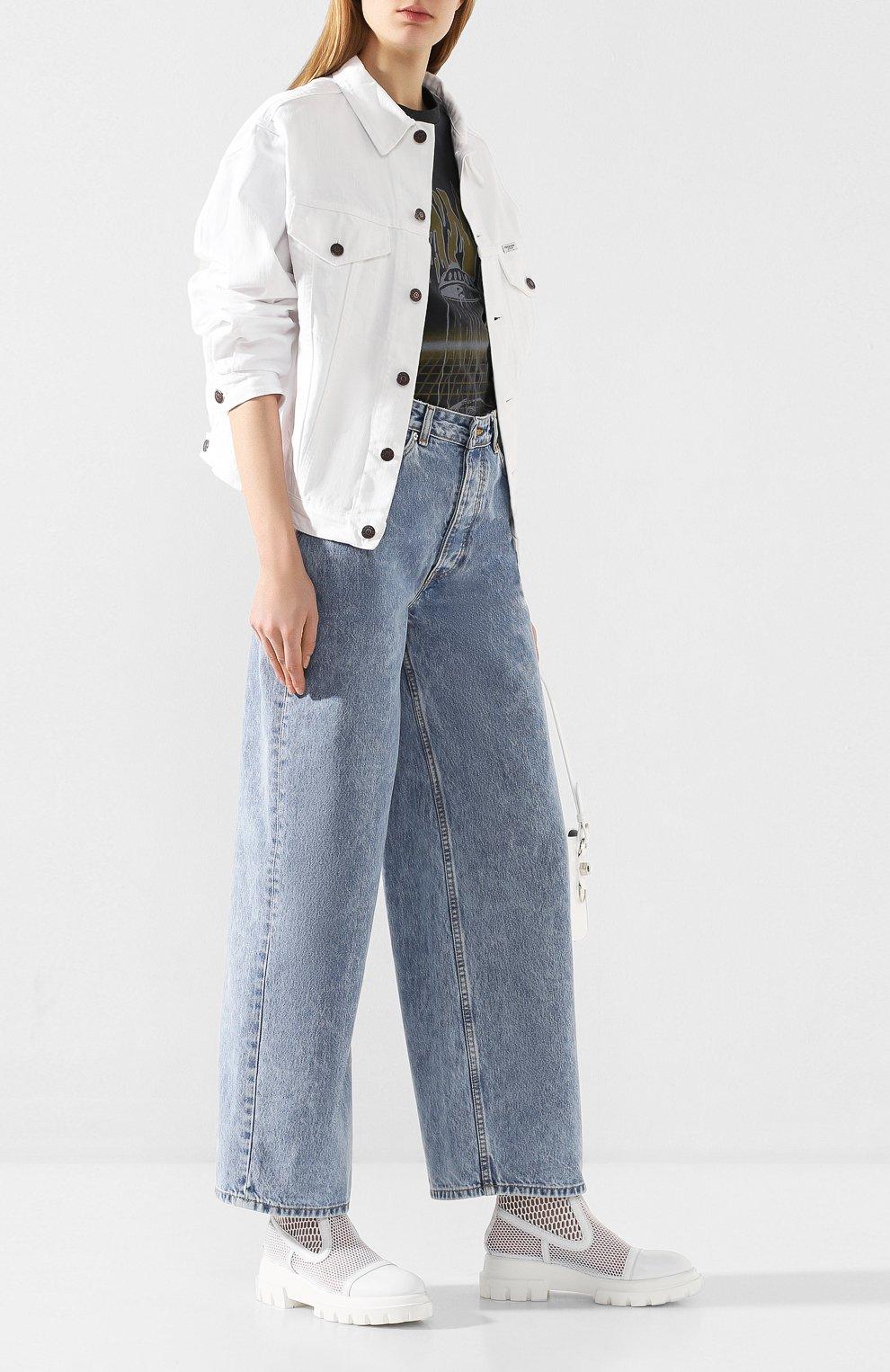 Женские джинсы GANNI голубого цвета, арт. F4481 | Фото 2