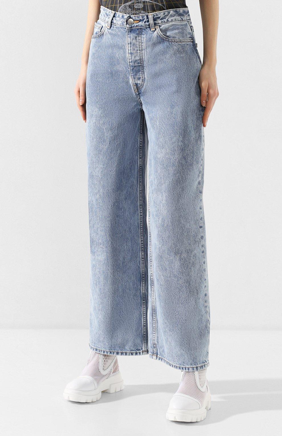 Женские джинсы GANNI голубого цвета, арт. F4481 | Фото 3