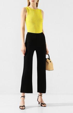 Женские брюки из вискозы TOTÊME черного цвета, арт. C0UR 202-204-755 | Фото 2