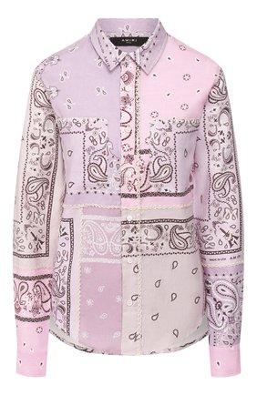 Женская хлопковая рубашка AMIRI сиреневого цвета, арт. Y0W06472PD | Фото 1