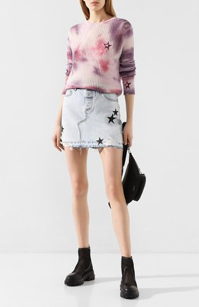 Женская кашемировый пуловер AMIRI розового цвета, арт. Y0W05278CC | Фото 2