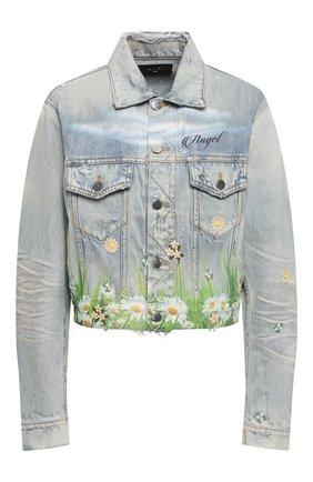 Женская джинсовая куртка AMIRI голубого цвета, арт. Y0W04381DE | Фото 1