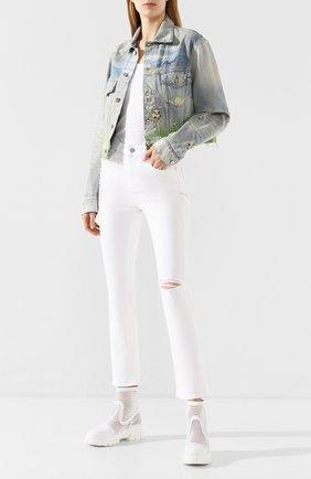 Женская джинсовая куртка AMIRI голубого цвета, арт. Y0W04381DE | Фото 2