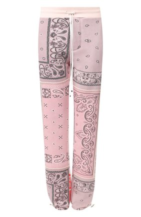 Женские хлопковые брюки AMIRI розового цвета, арт. Y0M09477TE | Фото 1