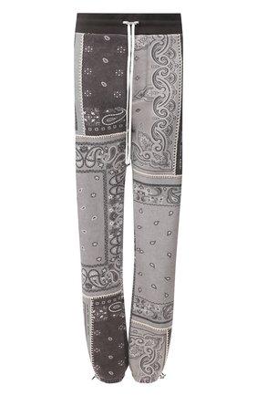 Женские хлопковые брюки AMIRI серого цвета, арт. Y0M09477TE | Фото 1