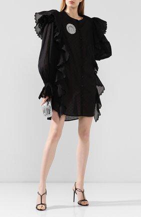 Женское хлопковое платье ULYANA SERGEENKO черного цвета, арт. ABC002SS20P (0146т20) | Фото 2