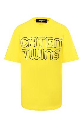 Женская хлопковая футболка DSQUARED2 желтого цвета, арт. S72GD0229/S21600 | Фото 1