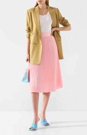 Женская плиссированная юбка HYKE розового цвета, арт. 14043 | Фото 2