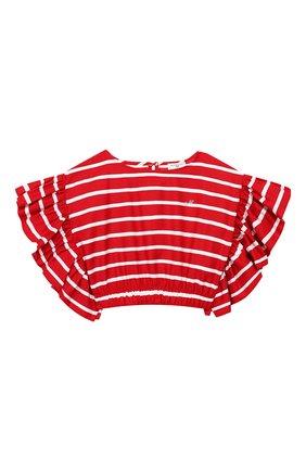Детский топ MONNALISA красного цвета, арт. 115303 | Фото 1