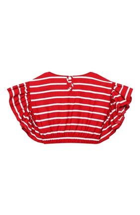 Детский топ MONNALISA красного цвета, арт. 115303 | Фото 2