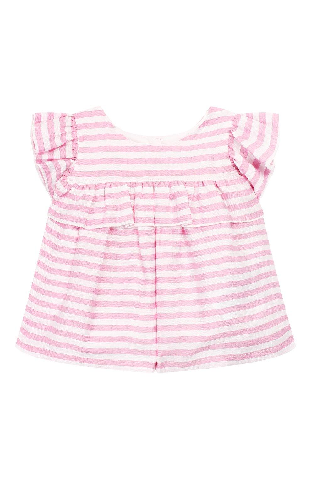 Детский комплект из топа и леггинс MONNALISA розового цвета, арт. 315500 | Фото 2