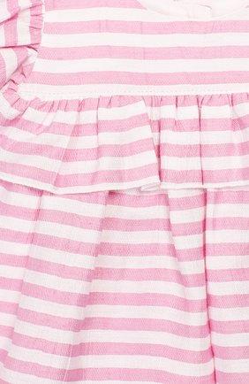 Детский комплект из топа и леггинс MONNALISA розового цвета, арт. 315500 | Фото 6