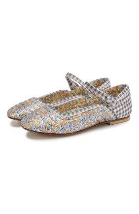 Детские туфли FENDI разноцветного цвета, арт. JFR309/ABNA/32-39 | Фото 1