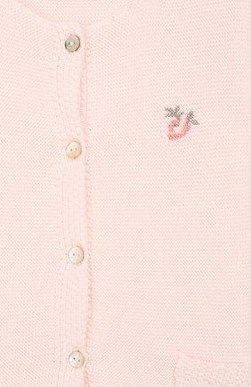 Детский хлопковый кардиган TARTINE ET CHOCOLAT розового цвета, арт. TQ18021/1M-1A   Фото 3 (Рукава: Длинные; Материал внешний: Хлопок)