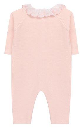 Детский хлопковый комбинезон TARTINE ET CHOCOLAT розового цвета, арт. TQ32001/1M-1A | Фото 2