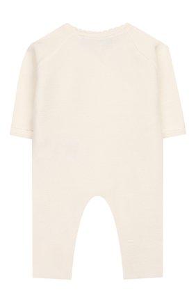Детский хлопковый комбинезон TARTINE ET CHOCOLAT бежевого цвета, арт. TQ32051 | Фото 2
