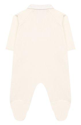Детский хлопковый комбинезон TARTINE ET CHOCOLAT бежевого цвета, арт. TQ54001 | Фото 2