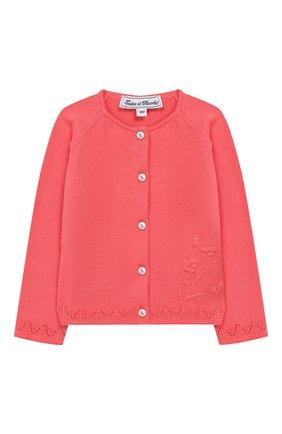 Детский хлопковый кардиган TARTINE ET CHOCOLAT розового цвета, арт. TQ18101/18M-3A | Фото 1
