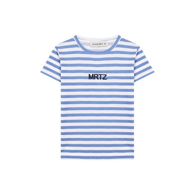 Хлопковая футболка Manuel Ritz — Хлопковая футболка